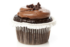 Chocolate Frosted Cupcake Stock Photo