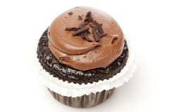Chocolate Frosted Cupcake Royalty Free Stock Image