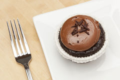 Chocolate Frosted Cupcake Royalty Free Stock Photography
