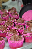 Chocolate Frosted Cupcakes Royalty Free Stock Images
