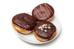 Chocolate Frosted Donuts Royalty Free Stock Photo