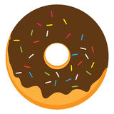 Chocolate frosted ring doughnut Stock Image
