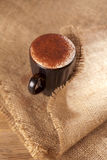 Chocolate frothy quente do cappuccino da bebida espanado Fotografia de Stock