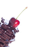 Chocolate and fruit. / on isolated Stock Photo
