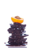 Chocolate and fruit Stock Images