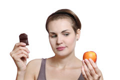 Chocolate or fruit Royalty Free Stock Image