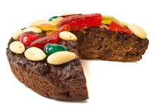 Chocolate Fruit Cake Royalty Free Stock Photo