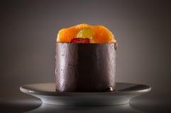 Chocolate fruit cake Royalty Free Stock Images