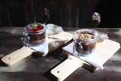 Chocolate and Fruit Cake Royalty Free Stock Image