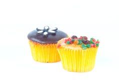 chocolate and fruit cupcake Stock Photo