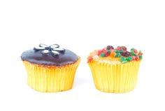 chocolate and fruit cupcake Royalty Free Stock Photos