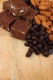 Chocolate fudge Stock Images