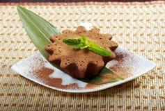 Chocolate fudge brownie Stock Photos