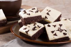 Chocolate Fudge Brownies Stock Photo