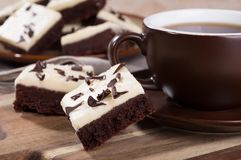 Chocolate Fudge Brownies Royalty Free Stock Image