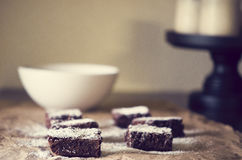 Chocolate Fudge Brownies Stock Photography