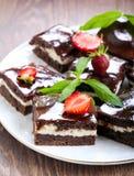 Chocolate fudge brownies Royalty Free Stock Photo