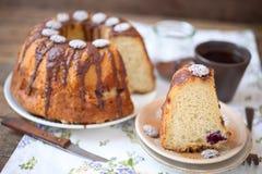 CHOCOLATE FUDGE BUNDT CAKE. Royalty Free Stock Images