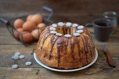 CHOCOLATE FUDGE BUNDT CAKE. Stock Images