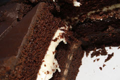 Chocolate fudge cake Royalty Free Stock Photos