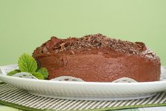 Chocolate fudge cake Stock Images