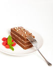 Chocolate Fudge Cake Royalty Free Stock Photography
