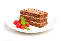 Chocolate Fudge Cake Royalty Free Stock Image