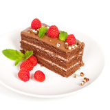 Chocolate Fudge Cake Royalty Free Stock Images
