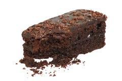 Chocolate fudge cake slice Stock Photo