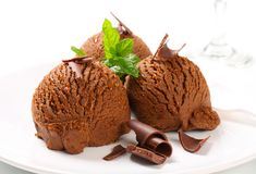 Chocolate fudge ice cream royalty free stock images