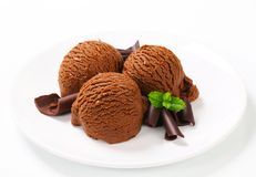Chocolate fudge ice cream Stock Photos