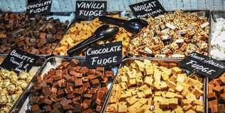 Chocolate Fudge. And nougat stall Stock Image