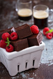 Chocolate fudge pieces Royalty Free Stock Photography