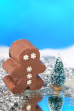 Chocolate fudge snowman Stock Images