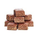 Chocolate Fudge on White Background Stock Photography
