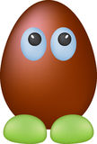Chocolate funny egg. Isolated, without background Royalty Free Stock Photos