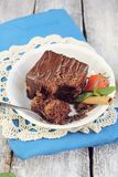 Chocolate ganache cake Royalty Free Stock Photography