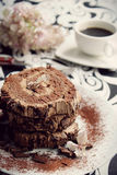 Chocolate ganache roulade Royalty Free Stock Photography