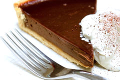 Chocolate gateux tart served Stock Photography