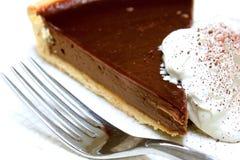 Chocolate gateux tart served Stock Photography
