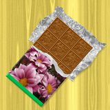 Chocolate generated texture background Stock Photography