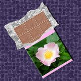 Chocolate generated texture background Royalty Free Stock Photos