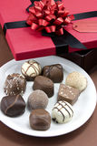 Chocolate gift Stock Photo