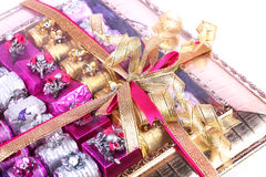 Chocolate gift box Royalty Free Stock Photography