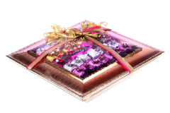 Chocolate gift box Royalty Free Stock Photos