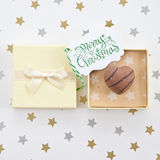 Chocolate in gift box Stock Photos