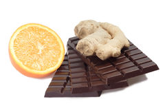 Chocolate with ginger Stock Photography