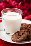 Chocolate ginger cookies Stock Photos