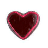 Chocolate gingerbread, donut in the form of heart. Chocolate Donut, Heart Shaped Pastry on the  white background Stock Image