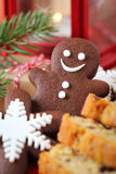 Chocolate gingerbread man Stock Images